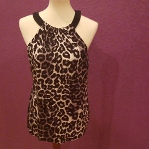 A.n.a animal print sleeveless top